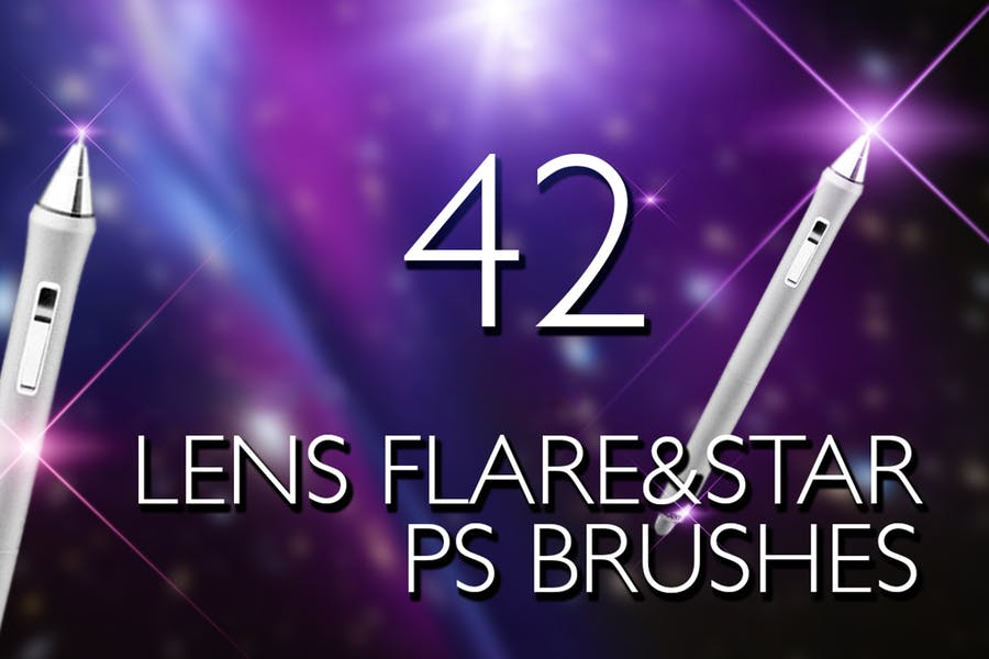 Lens Flare & Stars Photoshop Brushes