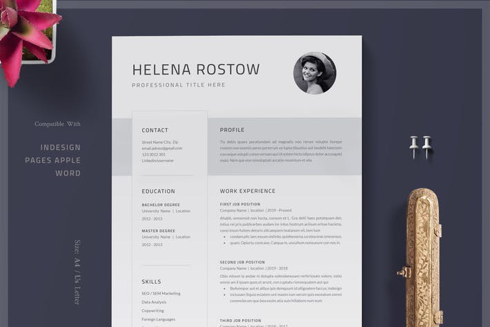 Thumbnail for Resume / Resume Template /  Clean Cv /