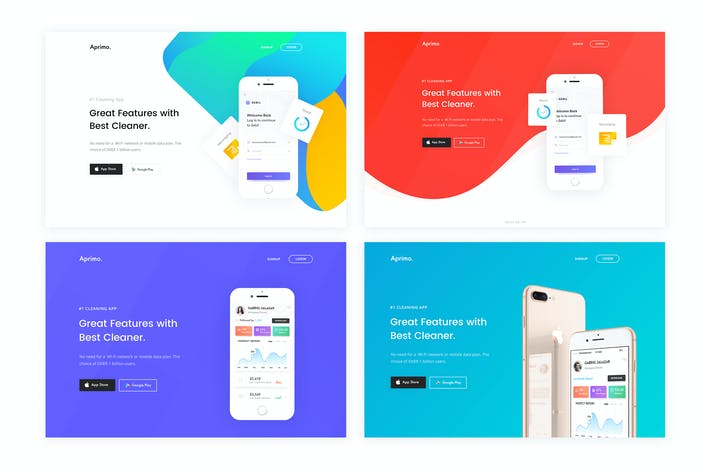 Thumbnail for Faster- App Landing Page HTML Template