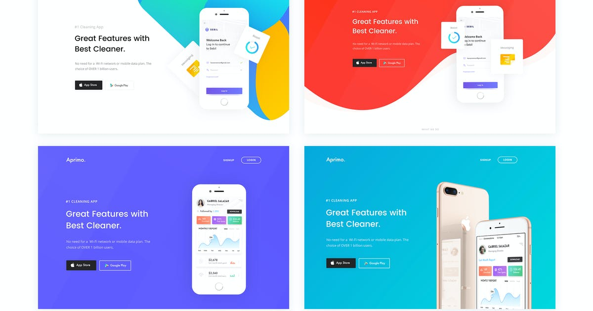 Download Faster- App Landing Page HTML Template by CreativeGigs