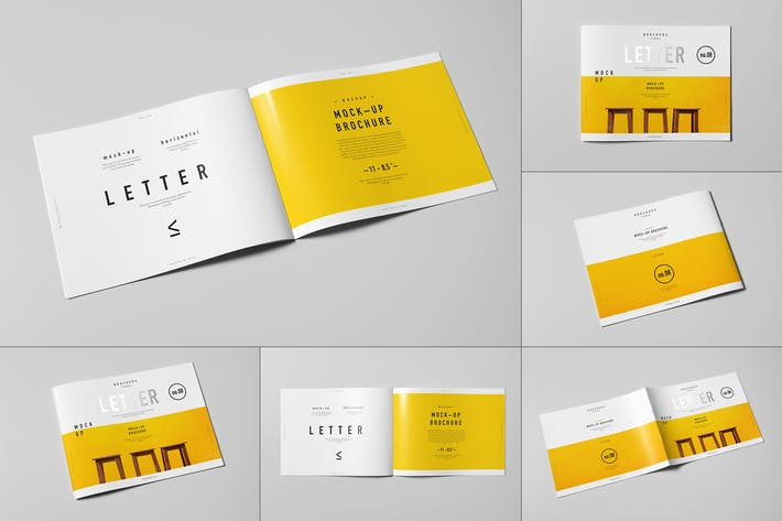 Thumbnail for US Letter Horizontal Brochure Mock-up