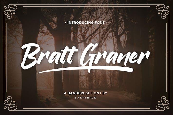 Thumbnail for Bratt Graner Brush Font YH