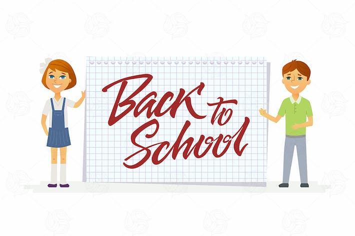 Thumbnail for Zurück zur Schule - Charaktere der glücklichen Schüler