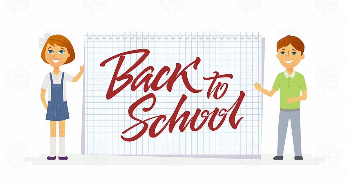 Download Back to school - characters of happy students by BoykoPictures