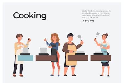 Kochen - Illustration