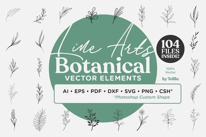 Thumbnail for Line Art Botanical Vector Elements