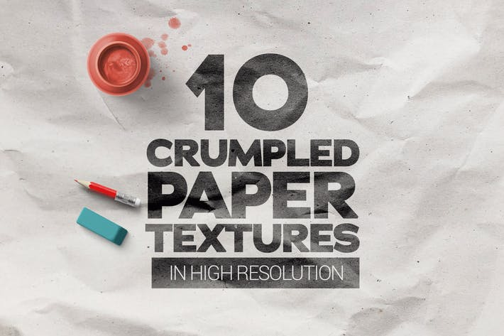 Thumbnail for Crumpled Paper Textures x10