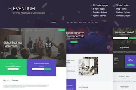 Eventium - Responsive Events HTML5 Template