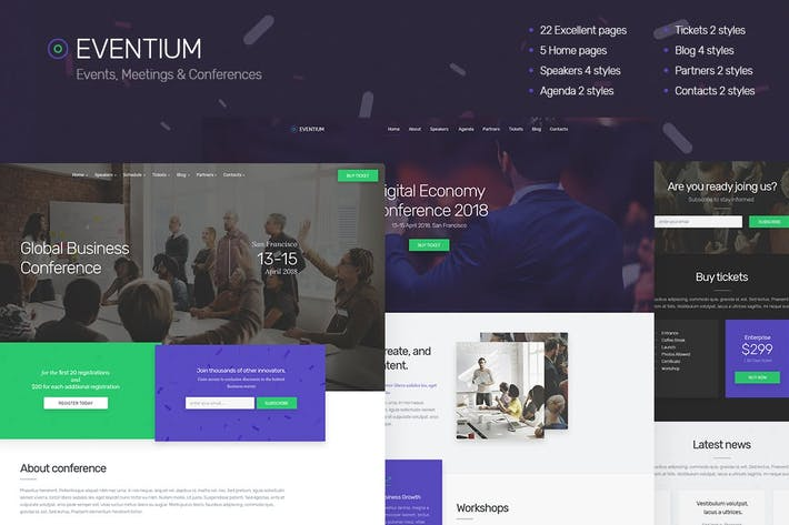 Thumbnail for Eventium - Responsive Events HTML5 Template