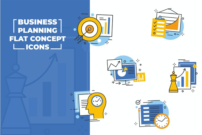 Thumbnail for Business Planning Flat Icons