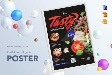 Fresh Food & Restaurant Poster Medium