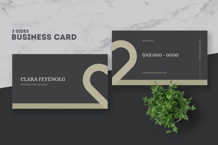 Cover Image For Wedding Photographer Business Card