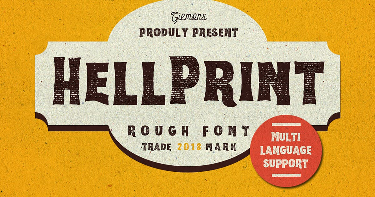 Download Helprint Typeface by giemons