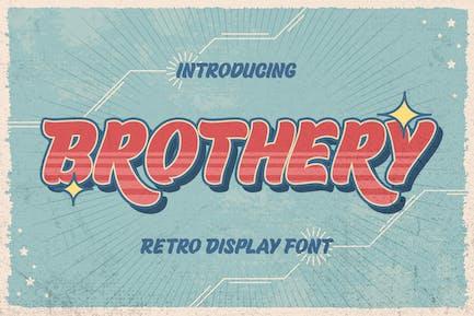 Brothery - Retro Vintage Font