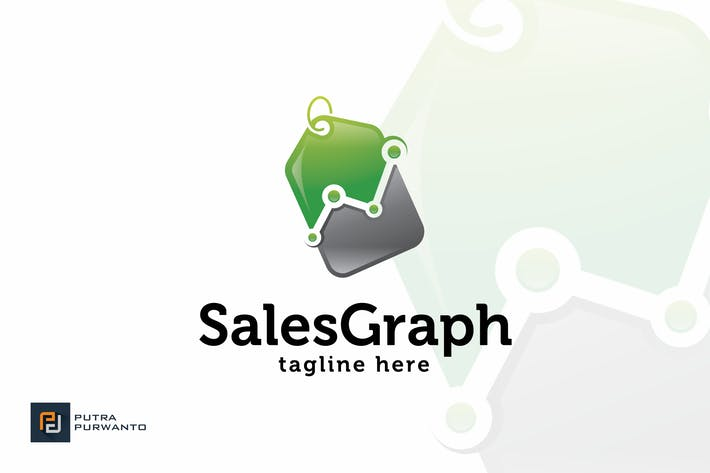 Cover Image For Sales Graph - Logo Template