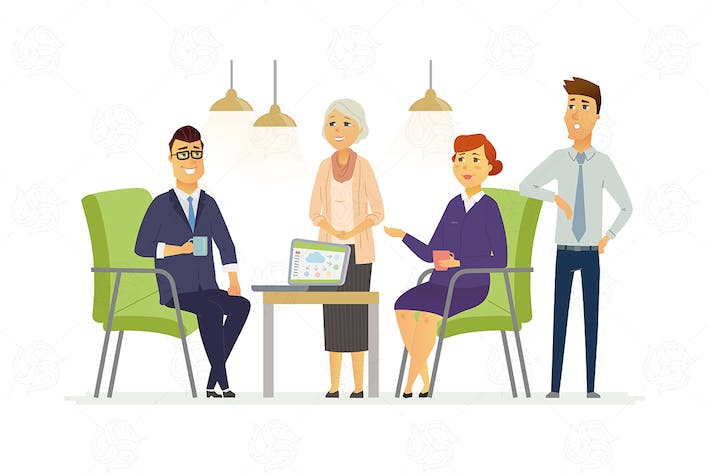 Thumbnail for Business Discussion - vector illustration