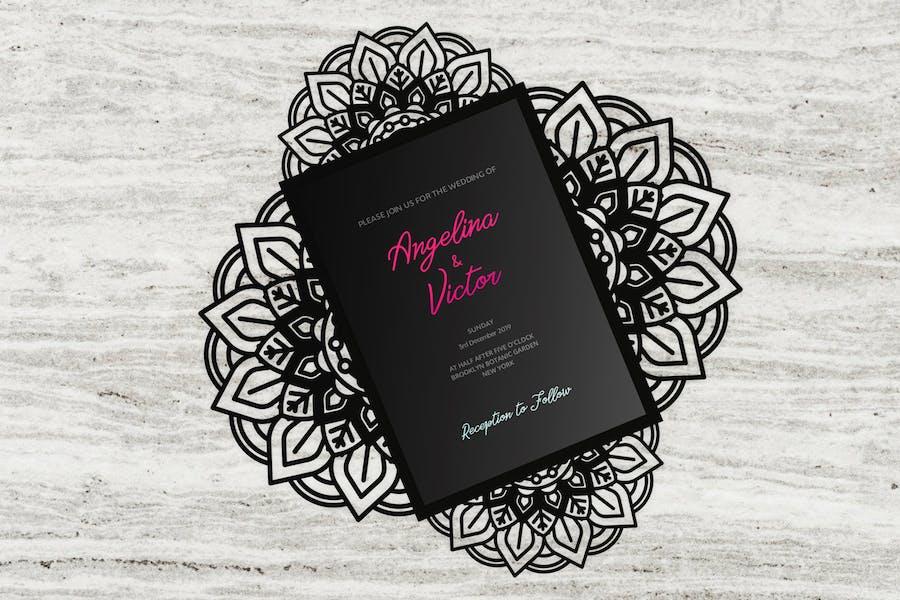 Elegance four-fold wedding invitation templates