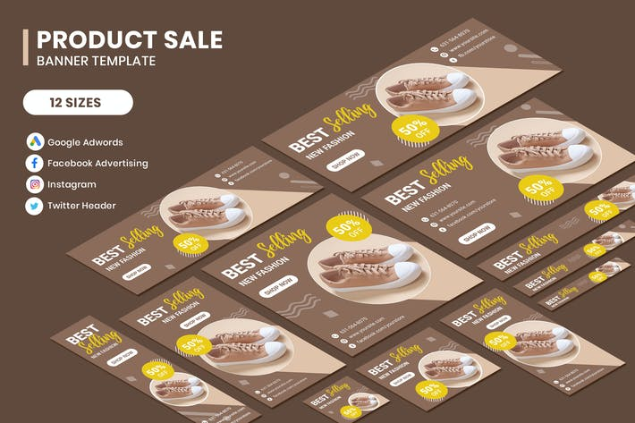 Thumbnail for Product Sale Google Adwords Banner Template