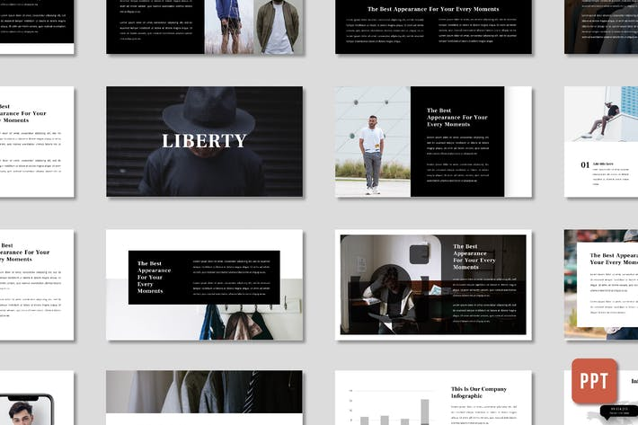 Cover Image For Liberty Men Fashion Presentation - (PPT)