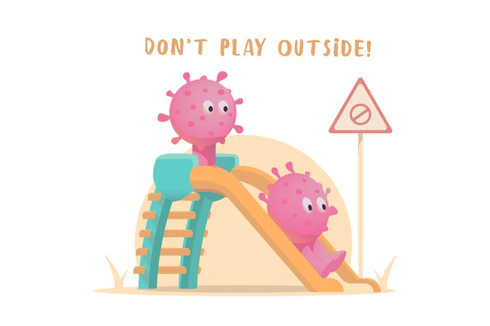 Thumbnail for Don't Play Outside Illustration Template