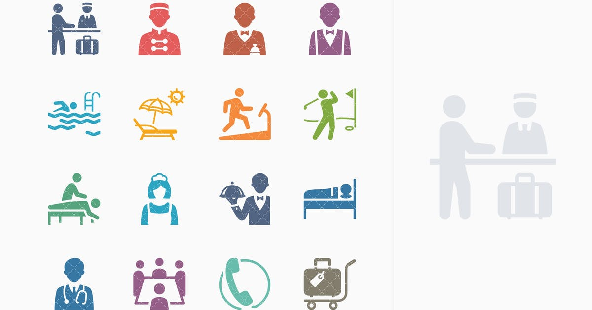 Download Tourism & Travel Icons Set 2 - Colored Series by introwiz1