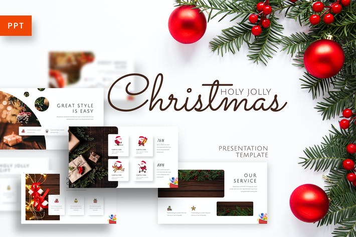 Holy Joly - Christmas Powerpoint Template