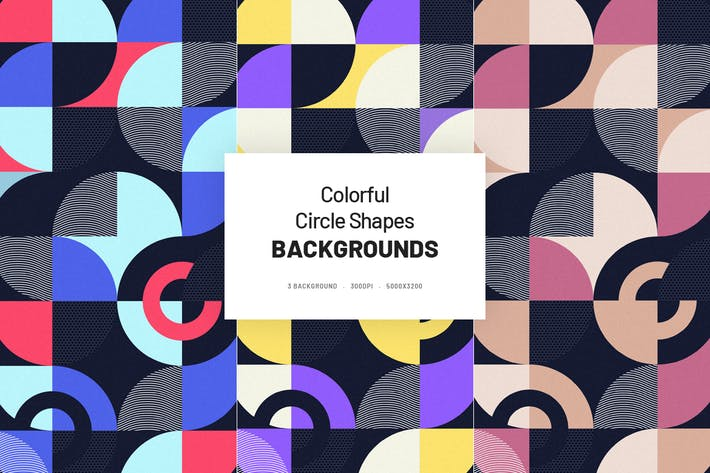 Thumbnail for Colorful Circle Shapes Background