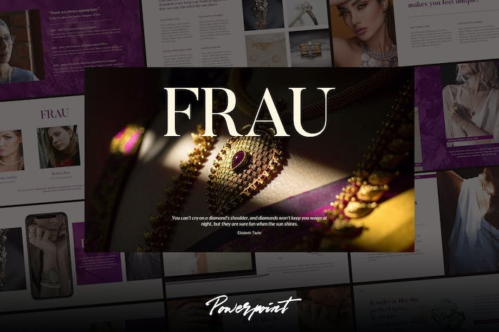 Thumbnail for Frau - Fashion Business Powerpoint Template