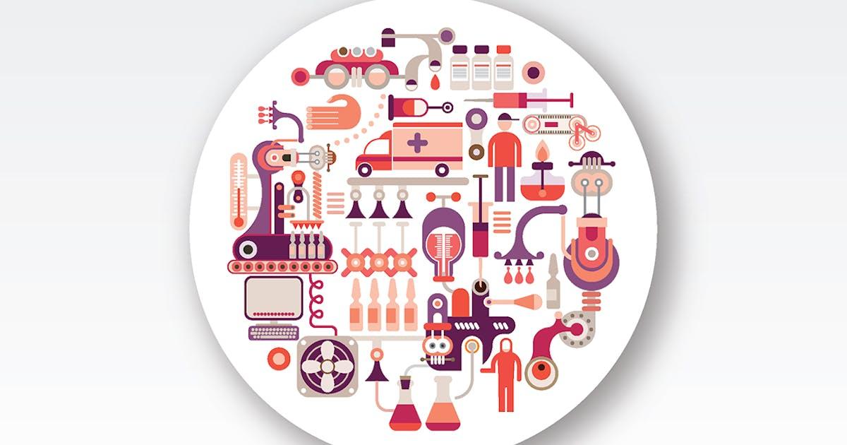 Download Research Laboratory Equipment round vector design by danjazzia