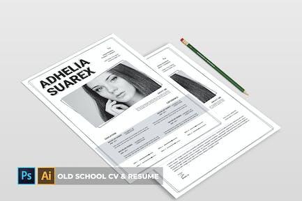 Old School | CV & Resume