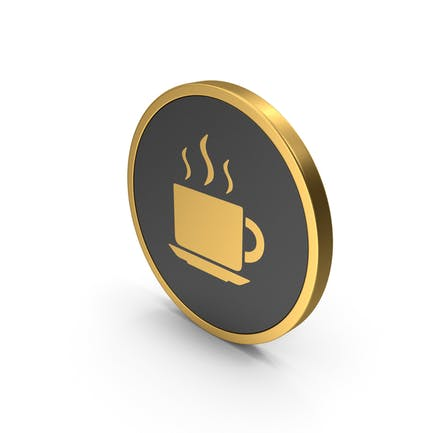 Gold Coffee Cup Icon