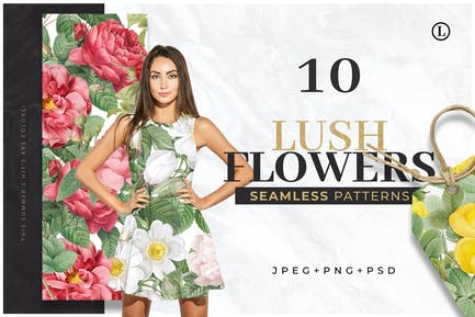 10 Colorful Flower Patterns
