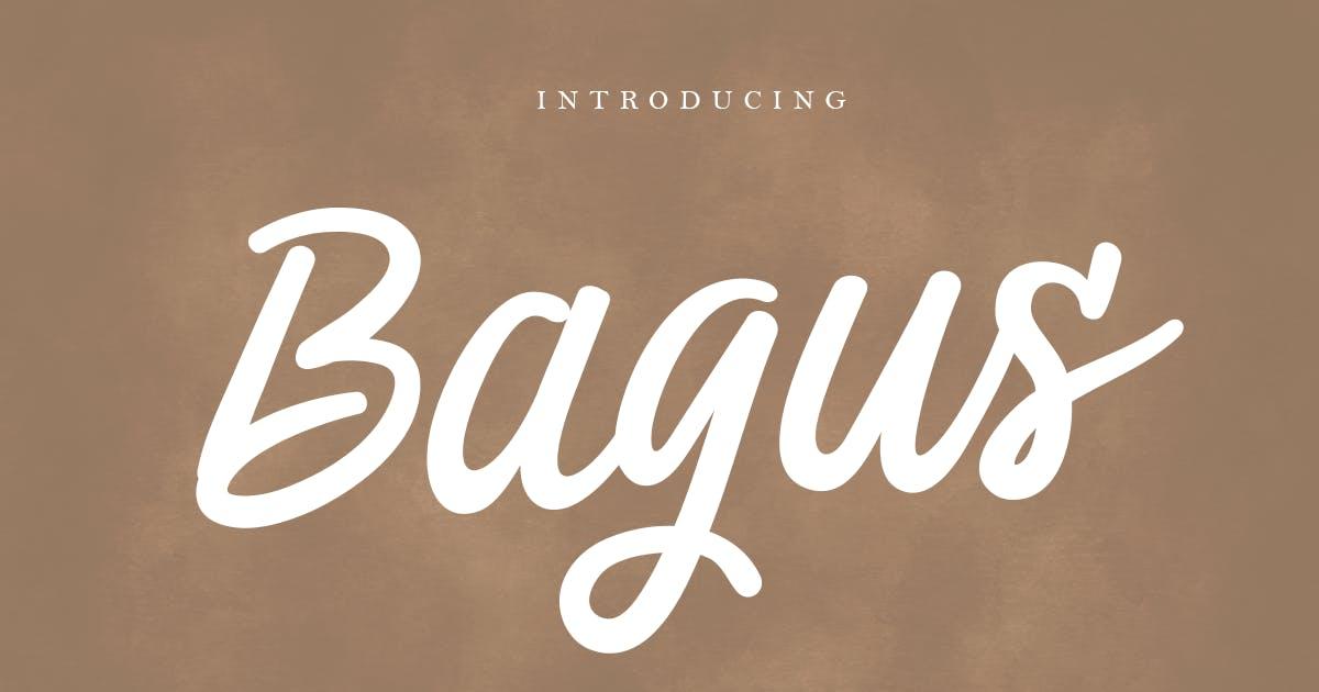 Download Bagus - Modern Script Font by HamzStudio