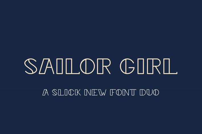 Thumbnail for Sailor Girl Font Duo