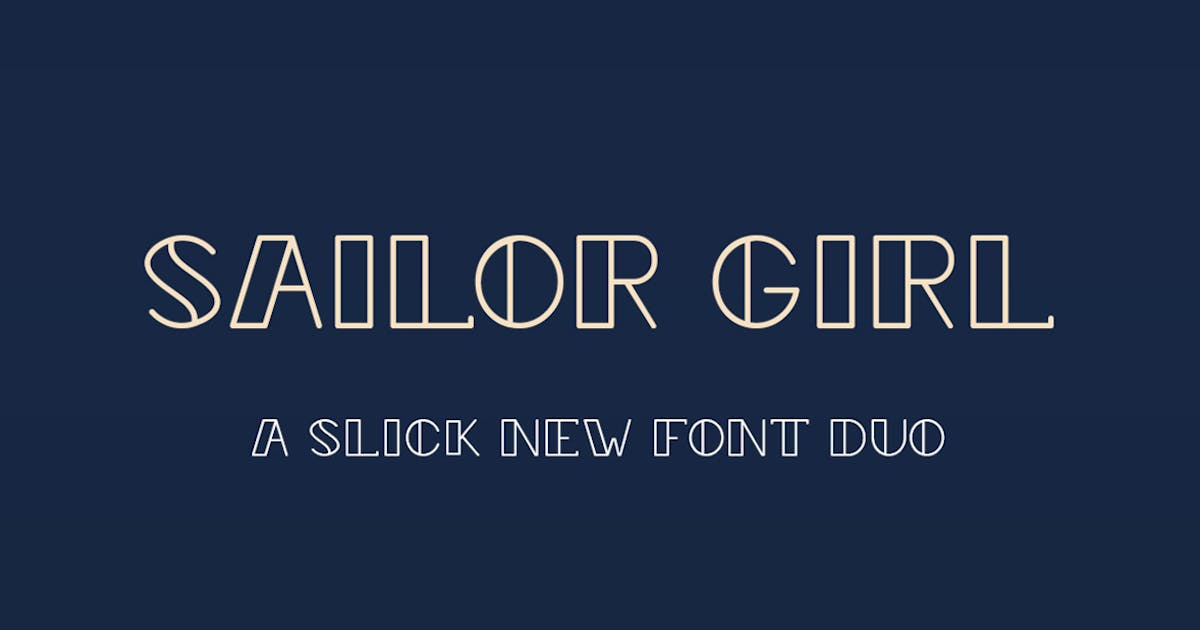 Download Sailor Girl Font Duo by maroonbaboon