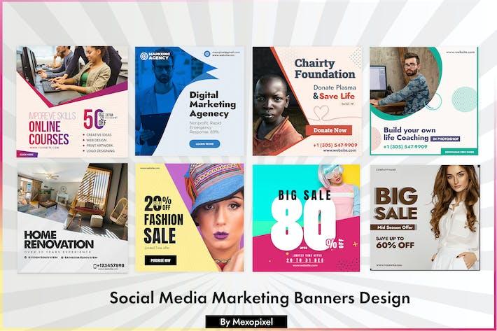 Social Media Marketing Banners Design