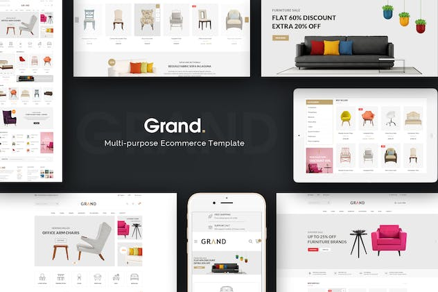 Grand - Responsive Furniture Prestashop Theme - product preview 0