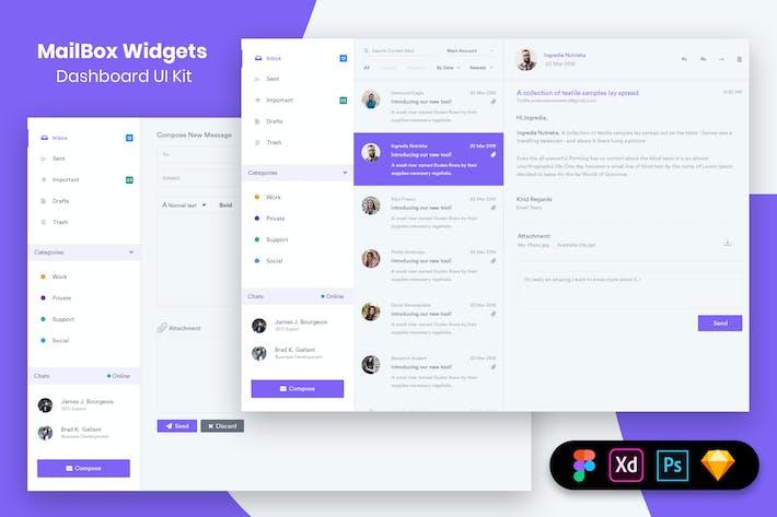 Thumbnail for MailBox Widgets Dashboard UI Kit
