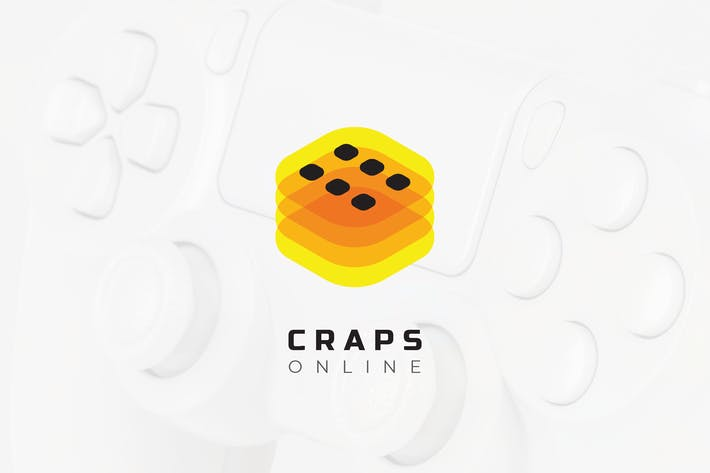 Thumbnail for Craps Online Mobile Game – eSport Logo Template