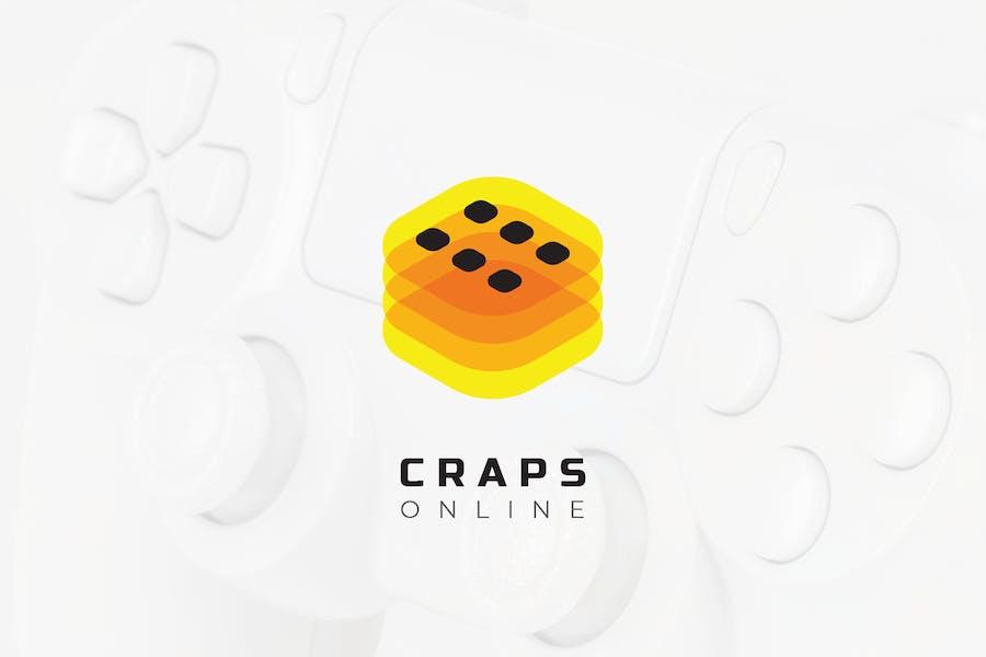 Craps Online Mobile Game – eSport Logo Template