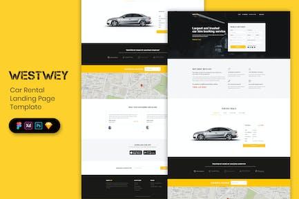 Car Rental - Landing Page Template