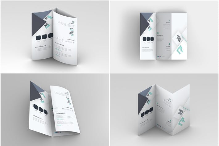 Thumbnail for Trifold Brochure Mock-Up