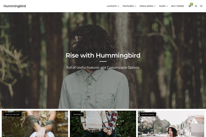 Thumbnail for Hummingbird - The Ultimate Blog Theme