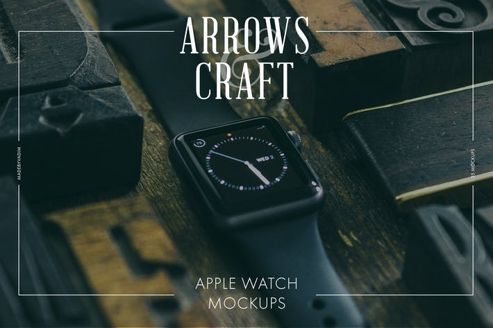 Cover Image For Arrows & Craft - Apple Watch Mockups