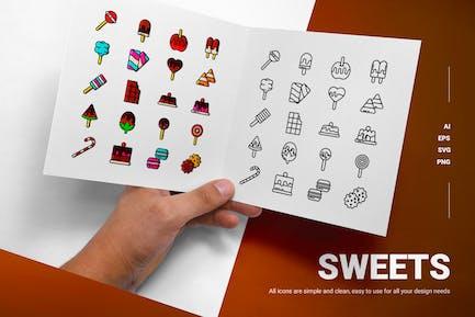 Süßigkeiten - Icons