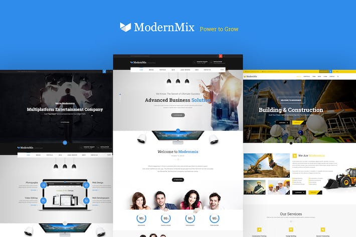 Thumbnail for Modernmix - business PSD Template