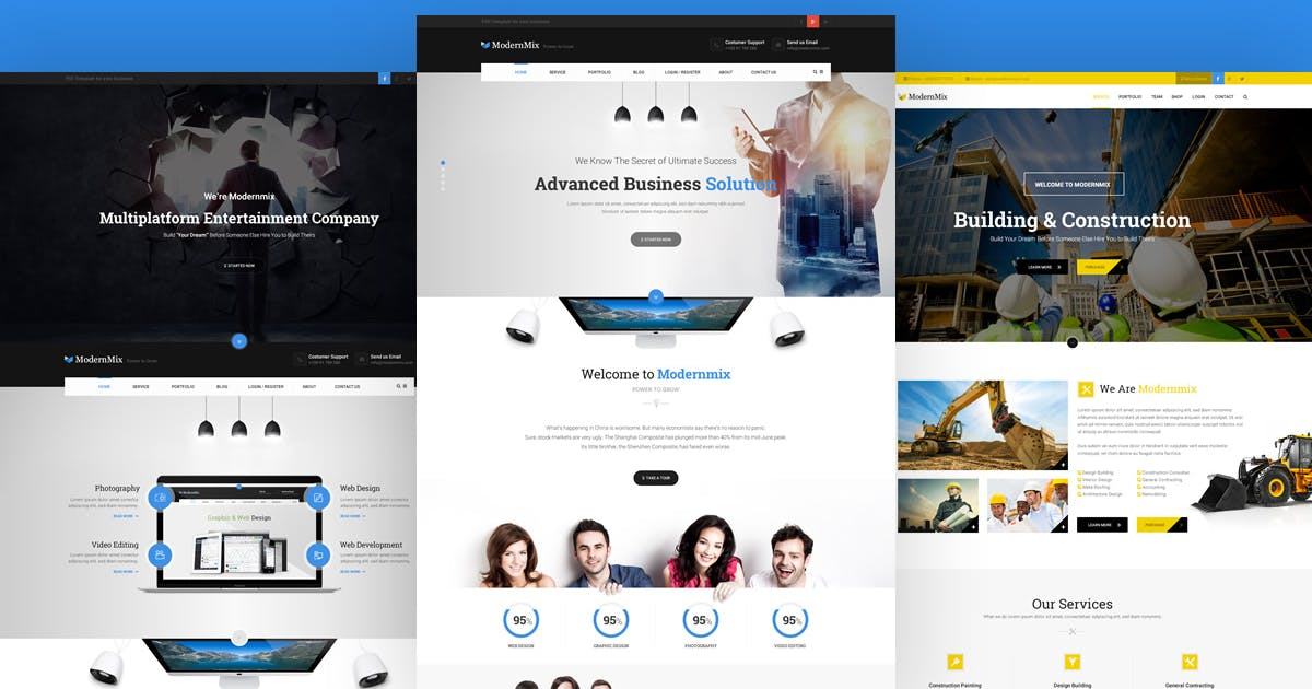 Download Modernmix - business PSD Template by youwes