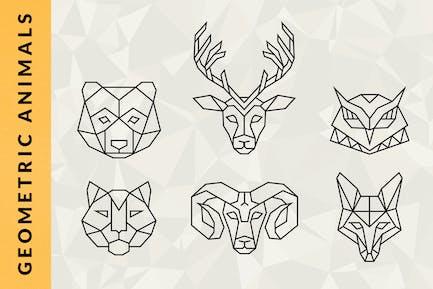 Logos animaux géométriques