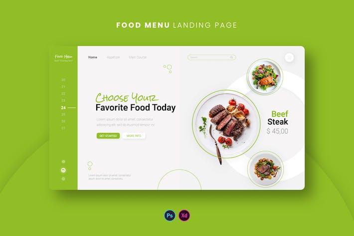 Thumbnail for Food Menu Landing Page