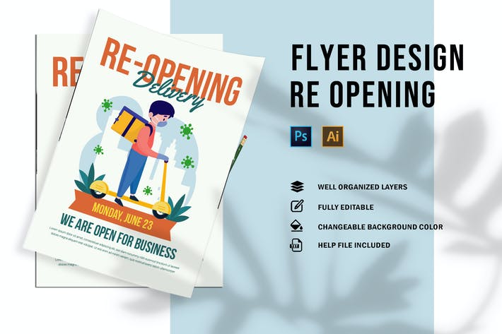 Thumbnail for Re Opening Delivery | Flyer